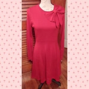 Jessica Howard Red Bow Detail Sweater dress M